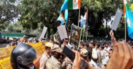 NSUI members detained after protest over alleged IIT-JEE fraud case